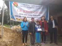 Lộc Hà: Hội đồng Đội huyện Lộc Hà tổ chức lễ khởi công xây dựng ngôi nhà khăn quàng đỏ cho đội viên có hoàn cảnh khó khăn