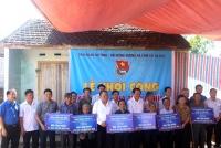 Tỉnh đoàn phối hợp với Hội đồng hương Hà Tĩnh khởi công xây dựng 6 nhà tình nghĩa tại huyện Can Lộc