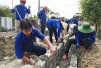 Tuổi trẻ Hà Tĩnh khởi công 93 nhà tĩnh nghĩa trong tháng thứ nhất chiến dịch Thanh niên tình nguyện hè 2018