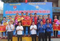 Tổ chức thành công Giải bóng chuyền nam Cán bộ Đoàn toàn tỉnh năm 2018
